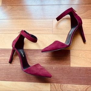 Nine West Wine Strappy Pointed Toe Heels, size 7